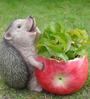 Wonderland Fat Hedgehog Flower Pot Planter