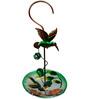 Wonderland Hanging Green Bird with Glass Feeder