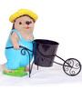 Wonderland Hedgehog Pushing Cart Planter