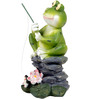 Wonderland Mini Frog on Rock Dcor