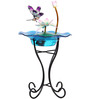 Wonderland Pink Lotus And Dragonfly Fountain with Stand & Motor