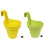 Wonderland Set of 2 : Railing Buckets in Yellow & Green