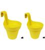 Wonderland Set of 2 : Railing Buckets in Yellow