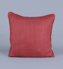 Woodson Red Linen & Wool 20 x 20 Inch Cushion Cover - Set of 2