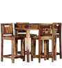 Woodway Four Seater Dining Set in Provincial Teak Finish by Woodsworth