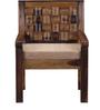 Woodway One Seater Sofa in Provincial Teak Finish by Woodsworth