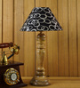Woody Lamp House Black & Silver Poly Cotton Table Lamp