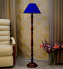 Woody Lamp House Blue Poly Cotton Floor Lamp