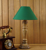 Woody Lamp House Green Poly Cotton Table Lamp