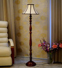Woody Lamp House Off White Poly Cotton Floor Lamp