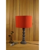 Woody Lamp House Red Poly Cotton Table Lamp