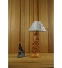 Woody Lamp House White & Silver Poly Cotton Table Lamp