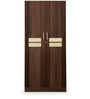 Woody Two Door Wardrobe in Acacia Dark & Maple Matte Finish by Debono