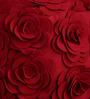Woolen felt Pouffe in Red Colour by Purplewood