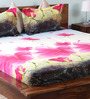 Wraps N Drapz Multicolour Nature & Florals Cotton Queen Size Bed Sheets - Set of 3