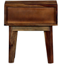 Wyoming Bed Side Table in Provincial Teak Finish by Woodsworth