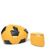 XL Yellow & Black Football Bean Bag & Puffy Cover without Beans (Set of 2)by Can