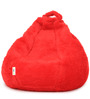 Fur Bean Bag Cover without Beans in Red Colour by Can