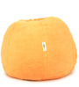 Fur Bean Bag Filled with Beans in Orange Colour by Can
