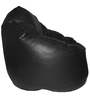 XXXL Bean Bag Sofa (Only Cover) in Black Colour by Feel Good