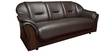 Xylo Three Seater Sofa in Brown Colour by Elegant Furniture