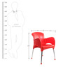Xylo Cafeteria Chair Set of Two in Red Colour by Cello
