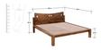 Yakima King Size Bed in Provincial Teak Finish by Woodsworth