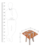 Yakoa Hand-Made Stool in Orange & Off-White Color by The Rug Republic