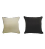 Yamini Off-white & Brown Cotton 16 x 16 Inch Solid Cushion Cover - Set of 2