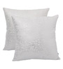 Yamini Silver Cotton 16 x 16 Inch Abstract Print Cushion Cover