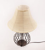 Yashasvi Beige & Black Wrought  Iron Table Lamp