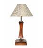 Yashasvi Grooves White Wooden Table Lamp