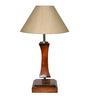 Yashasvi Cream Wooden Table Lamp