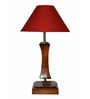 Yashasvi Red Wooden Table Lamp