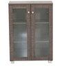 Yori Two Door Multipurpose Storage Cabinet in Brown Finish by Mintwud