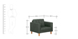 Zaudrey 3+2+1 Sofa Set Sofa in Grey Color by Madesos