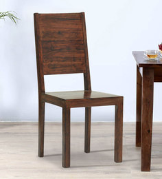 Zagreb Dining Chair In Dark Walnut Finish By The ArmChair