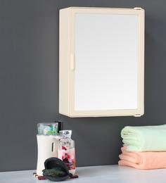 Zahab Sonata Single Door Cream Plastic Bathroom Cabinet