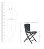Zac Spring Folding chair in Anthracite by Avian Lifestyle