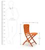 Zac Spring Folding Chair in Arancio Finish by Nardi
