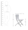 Zac Spring Folding chair in White Color by Avian Lifestyle