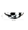 Zahab Black and White Resin Round Wash Basin
