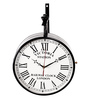 Abaza Retro Wall Clock in Black by Amberville