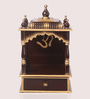Zahab Brown & Gold MDF Hand Carved Temple