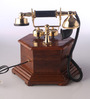 Ablett Retro Telephone in Brown by Amberville