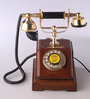 Abrahall Retro Telephone in Brown by Amberville