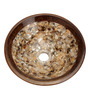 Zahab Brown Mother Of Pearl Round Wash Basin
