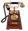 Abrahamson Retro Telephone in Brown by Amberville