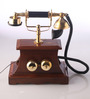 Abney Retro Telephone in Brown by Amberville