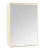 Zahab Duster Cream Plastic Single Door Bathroom Cabinet